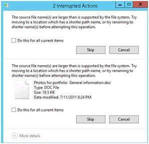 source filename error